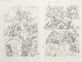 KANE, GIL - Marvel Team-Up #4 full-size prelim story pgs 13-14, X-Men Spider-Man Morbius '72 Comic Art