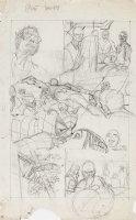 KANE, GIL - Marvel Team-Up #4 full-size prelim story pg 20, X-Men save Spider-Man '72 Comic Art