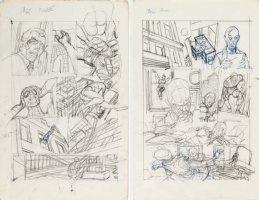 KANE, GIL - Marvel Team-Up #4 full-size prelim story pgs 3-4, Spider-Man Morbius '72 Comic Art