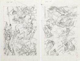 KANE, GIL - Marvel Team-Up #4 full-size prelim story pgs 9-10, X-Men vs Spider-Man '72 Comic Art