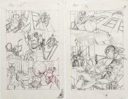 KANE, GIL - Marvel Team-Up #4 full-size prelim story pgs 5-6, Spider-Man + X-Men return '72 Comic Art