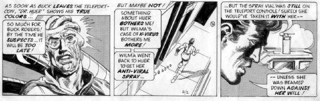 ADAMS, NEAL - Buck Rogers daily 4/2 1981, Buck, alien Dr shown Comic Art