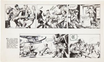DOMINGUEZ, LUIS - Green Force 5,  2 daily comic strips Try-Out - 1985 Comic Art