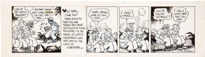 RICHARDS, TED - Doppin' Dan #1  Underground daily, Vietnam 1972 Comic Art