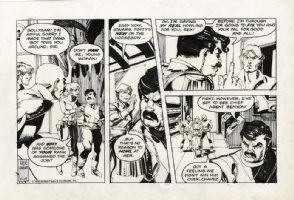 CHAYKIN, HOWARD - Star Hawks strip 2/19 1978 Comic Art