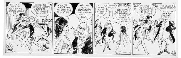 MORTIMER, WIN - Ben Franklin political daily 1972, Amazons Comic Art
