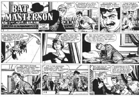 NOSTRAND, HOWARD & NEAL ADAMS - Bat Masterson Sunday 11-8 1959, very rare example of this strip by two great artists! Signed by Neal at bottom right border Comic Art