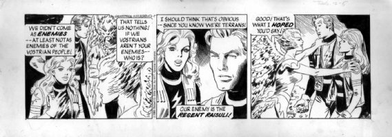 MORROW, GRAY - Buck Rogers daily 2-5 1980, Buck, Wilma, bird aliens Comic Art