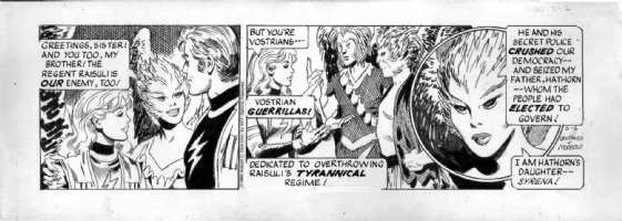 MORROW, GRAY - Buck Rogers daily 2-6 1980, Buck, Wilma, bird aliens Comic Art