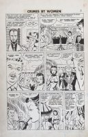 Fox studio/ Johnny Craig-ish art - Crimes By Woman #3 pg 2, Countess thief Comic Art