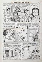 Fox studio/ Johnny Craig-ish art - Crimes By Woman #3 pg 4, Countess thief Comic Art
