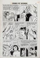 Fox studio/ Johnny Craig-ish art - Crimes By Woman #3 pg 6, Countess thief Comic Art