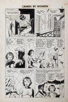 Fox studio/ Johnny Craig-ish art - Crimes By Woman #3 pg 7, Countess thief Comic Art