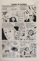Fox studio/ Johnny Craig-ish art - Crimes By Woman #3 pg 8, Countess thief Comic Art