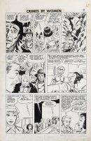 Fox studio/ Johnny Craig-ish art - Crimes By Woman #3 pg 9, Countess thief Comic Art