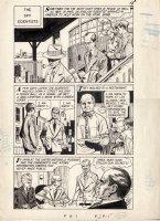 EVANS, GEORGE - Classics Illustrated: World Around Us  FBI  pg 15, Scientist spies Comic Art