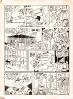 FRED, SCHWAB - Fight Comics #6 pg 2, Slug-Nutty Sam ala Powerhouse Pepper, 1940 Comic Art