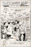 MAURER, NORMAN - Three Stooges 3-D large Splash, Stooges vs Ape 1953 Comic Art