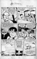BECK, CC / KURT SCHAFFENBERGER - Whiz #129 2-up pg 4, Billy turns into Captain Marvel  Comic Art
