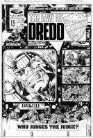 FLINT, HENRY - Law of Dredd #15 cover 1980s Comic Art