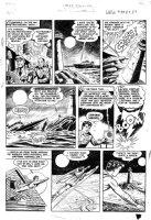 WARD, BILL - Master #124 large pg 3, Captain Marvel Jr transforms, Mancat wrecks ship Comic Art