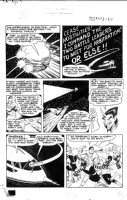 BECK, CC / KURT SCHAFFENBERGER - Whiz #123 large pg 10, Captain Marvel fighting aliens in space Comic Art