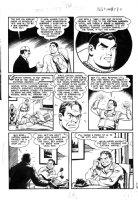 BECK, CC / KURT SCHAFFENBERGER - Whiz #132 large pg 7, Captain Marvel saves town, villain panicks Comic Art