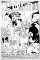 SIMONSON, WALT - X-Factor #18 pg 1 splash, all of the original X-Men in action Comic Art