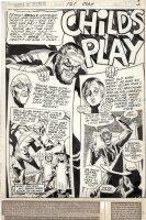 FRADON, RAMONA - House of Secrets #121 story pg 1 Splash classic, Host Abel &  Childs Play  Comic Art
