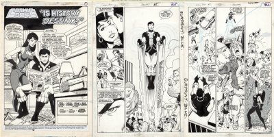GIFFEN, KIETH / ERNIE COLON - Legion Mini-series Cosmic Boy #2 complete Story, Cosmic Boy & Night Girl series 1987  Comic Art